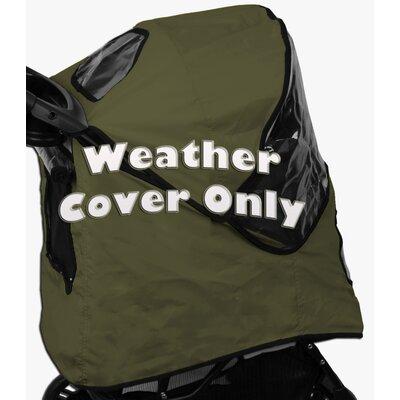 Pet Stroller Weather Cover for Jogger Stroller Color: Sage