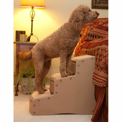Easy Steps III Extra Wide 3 Step Pet Stair Color: Tan