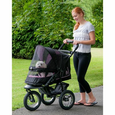 No Zip NV Pet Stroller Color: Rose