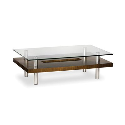 Hokkaido Rectangular Coffee Table Color: Walnut