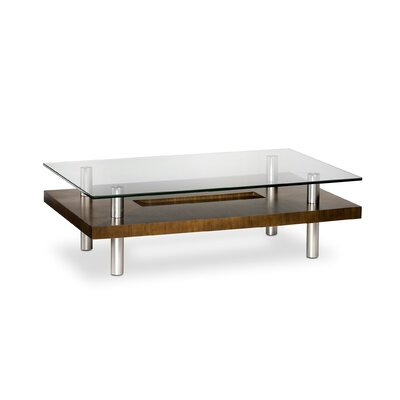 Hokkaido Rectangular Coffee Table Finish: Chocolate Walnut