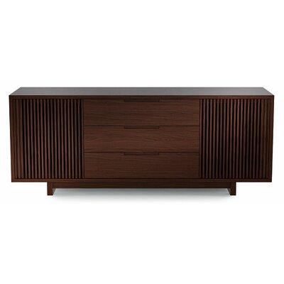 Vertica 73.5 TV Stand Color: Chocolate Stained Walnut