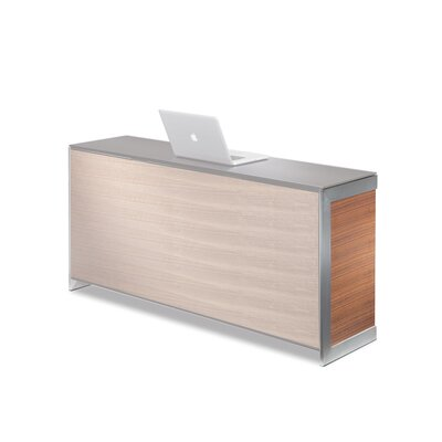 "Sequel 24.5"" H X 13.5"" W Desk Privacy Panel Finish: Natural Stained Cherry"