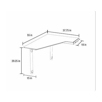 Sequel 29.25 H x 55 W Desk Peninsula Orientation: Left Facing