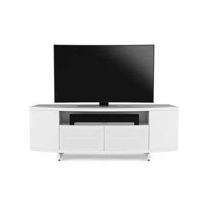Sweep 78 TV Stand Color: Satin White