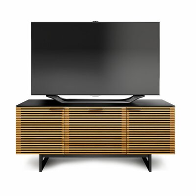 Corridor Triple-Width TV Stand with Drawer Finish: White Oak