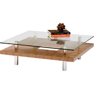 Hokkaido Square Coffee Table Color: Walnut