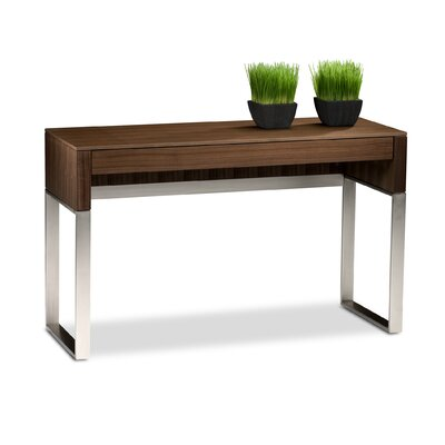 Cascadia Console Table with Drawer Finish: Chocolate Stained Walnut