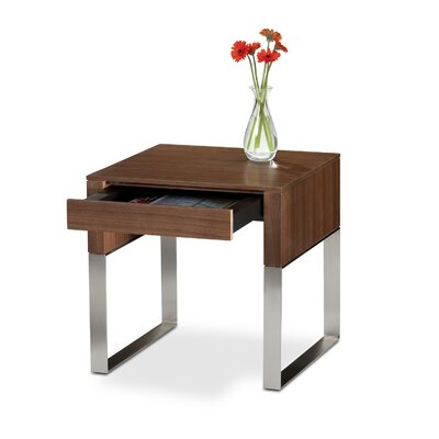 Cheap BDI USA Cascadia End Table with Drawer Color: Chocolate Stained Walnut (BDI1165_5805690)