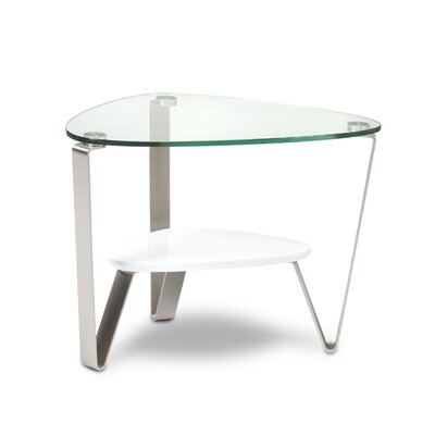 Dino End Table Color: Gloss White