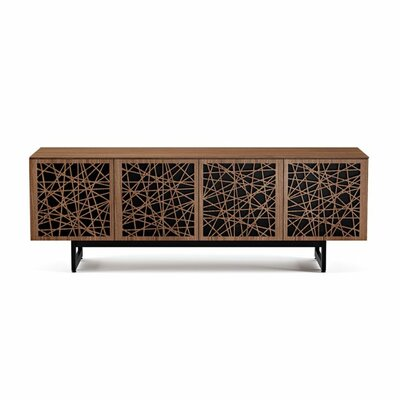 Elements 79.25 - Quad-Width Media TV Stand Color: Natural Walnut