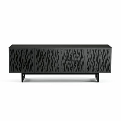 Elements - Quad-Width Media + Storage Cabinet Finish: Charcoal Stained Ash