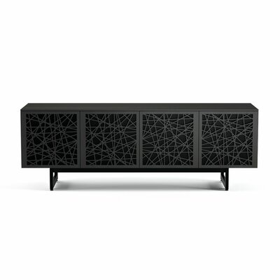 Elements 79.25 - Quad-Width Media TV Stand Color: Charcoal Stained Ash