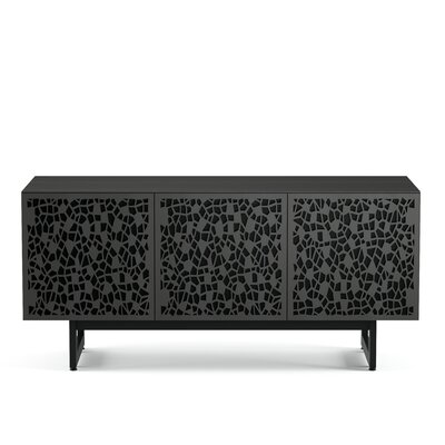Elements - Triple-Width Media + Storage Cabinet Finish: Charcoal Stained Ash