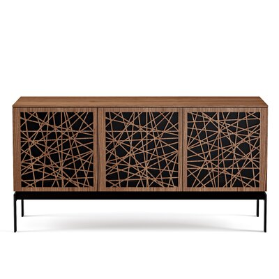 Elements 59 - Triple-Width Media TV Stand Color: Natural Walnut