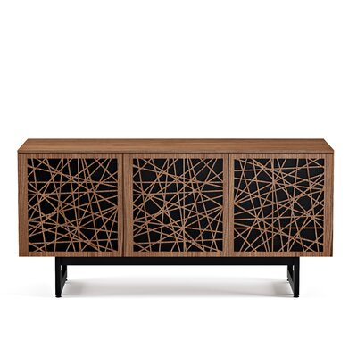 Elements 59.25 - Triple-Width Media TV Stand Color: Natural Walnut