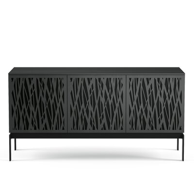 Elements 59.25 - Triple-Width Media TV Stand Color: Charcoal Stained Ash