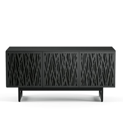 Elements 59 - Triple-Width Media TV Stand Color: Charcoal Stained Ash