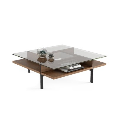 Terrace - Square Coffee Table Color: Natural Walnut