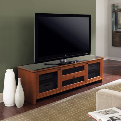 Novia 74 TV Stand Color: Natural Stained Cherry