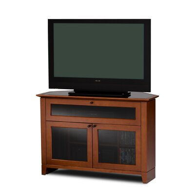 Novia Corner TV Stand Finish: Natural Stained Cherry