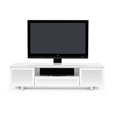 Nora TV Stand Finish: Gloss White / White Doors
