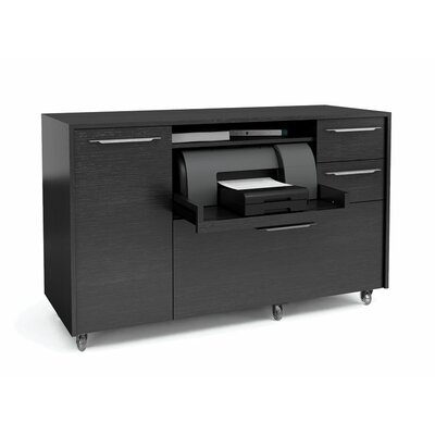 Format 1 Door Credenza Finish: Black Oak Product Picture 217