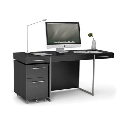 Format Computer Desk Finish: Black Oak Product Picture 456
