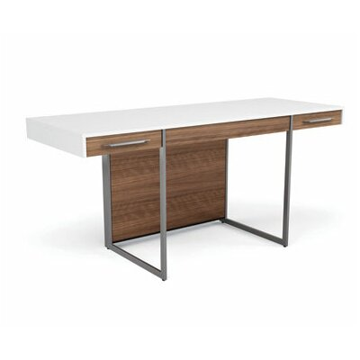 Format Computer Desk Finish: Natural Walnut/Satin White Product Picture 456