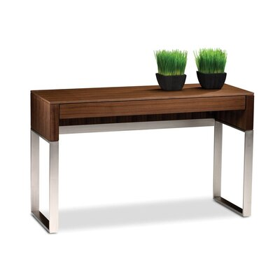 Cascadia Console Table with Drawer Finish: Natural Walnut