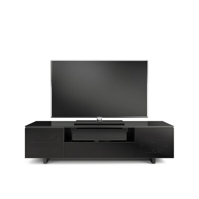 Nora Slim 77 TV Stand Color: Glossed Black