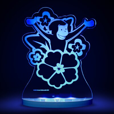 Curious George with Flowers LED 3-Light Night Light