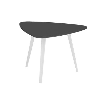 Pangea Home Ava End Table - Base Finish: Polished Metal, Top Finish: Walnut at Sears.com