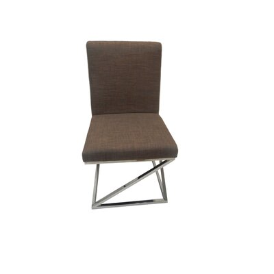 Collette Side Chair Upholstery: Brown