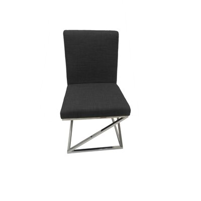 Collette Side Chair (Set of 2) Upholstery: Black
