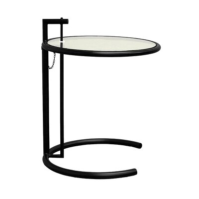 Lit End Table Color: Black