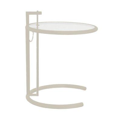 Lit End Table Color: White