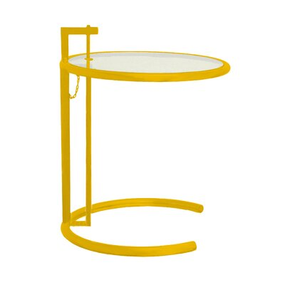 Lit End Table Color: Yellow