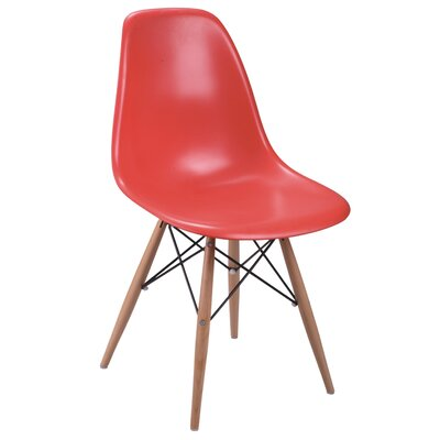 Daffy Side Chair (Set of 2) Upholstery: Red