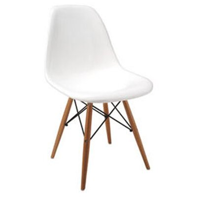 Daffy Side Chair Upholstery: White