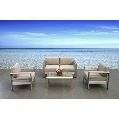 4 Piece Tyler Lounge Seating Group with Cushion