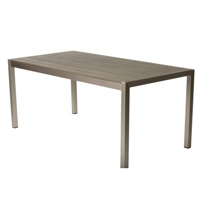 Pangea Home Roy Dining Table Finish: Gray