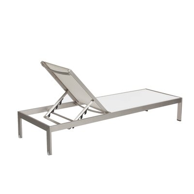 Pangea Home Sally Chaise Lounge Fabric: White