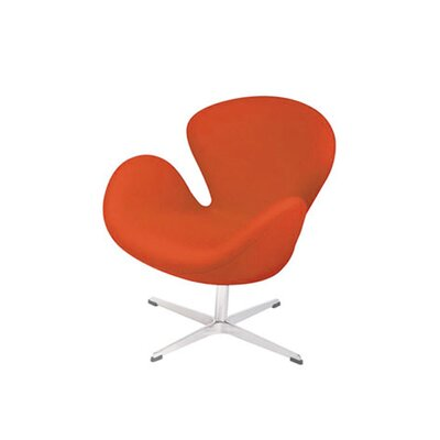 Star Lounge Chair Color: Fabric-Orange