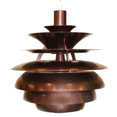 Caudle 1-Light Mini Pendant Finish: Bronze, Size: 19 H x 19 W