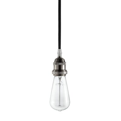Delia 1-Light Mini Pendant Base Finish: Brushed Metal