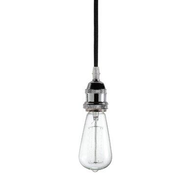 Delia 1-Light Mini Pendant Base Finish: Chrome