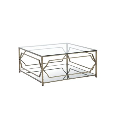 Cormac Square 3 Piece Coffee Table Set Color: Brushed Brass