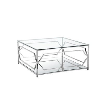 Cormac Square 2 Piece Coffee Table Set Color: High Polish Steel