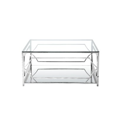 Cormac Square 3 Piece Coffee Table Set Color: High Polish Steel